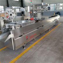 DZR-420千叶豆腐拉伸包装机 豆腐块连续抽真空机