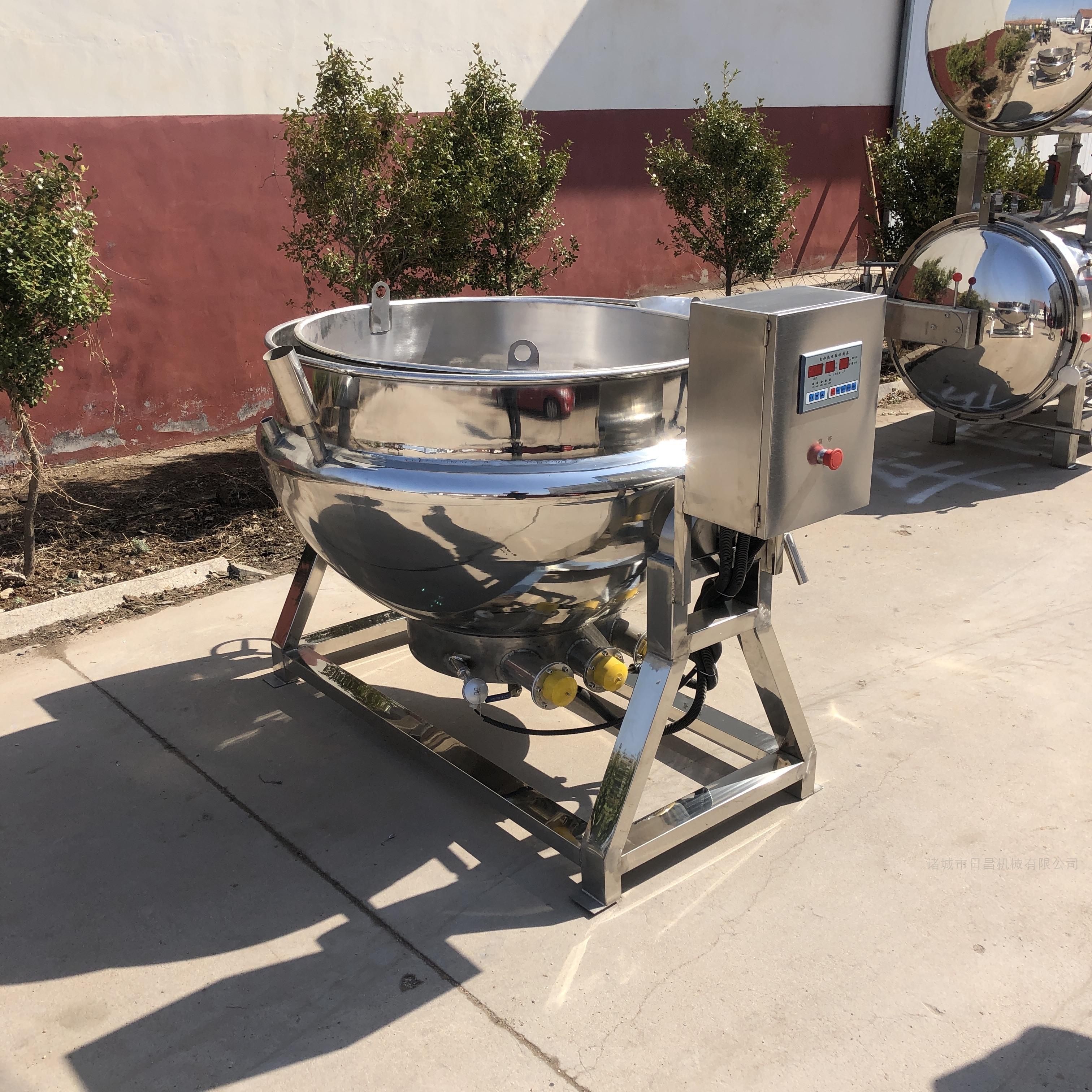 500L电加热导热油可倾式夹层锅