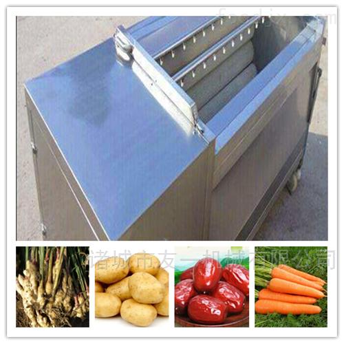 多功能不锈钢土豆、胡萝卜清洗去皮机