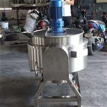 300L全自动燃气加热可倾式夹层锅带搅拌炒锅