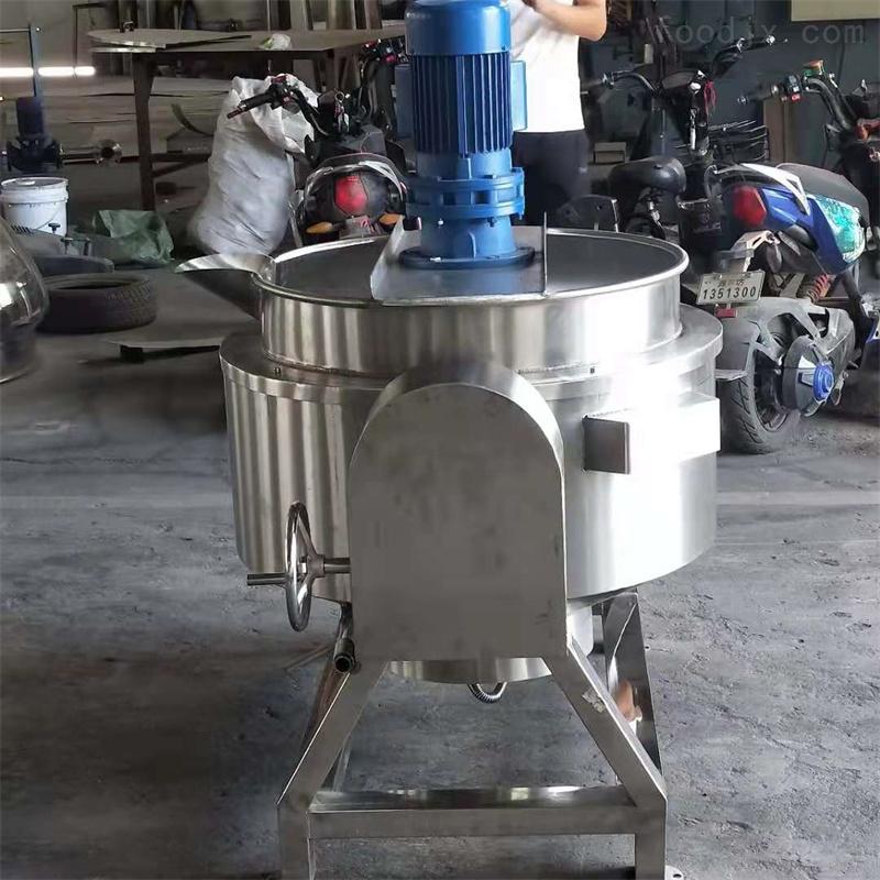 厂家直供带搅拌可倾式夹层锅蒸煮锅