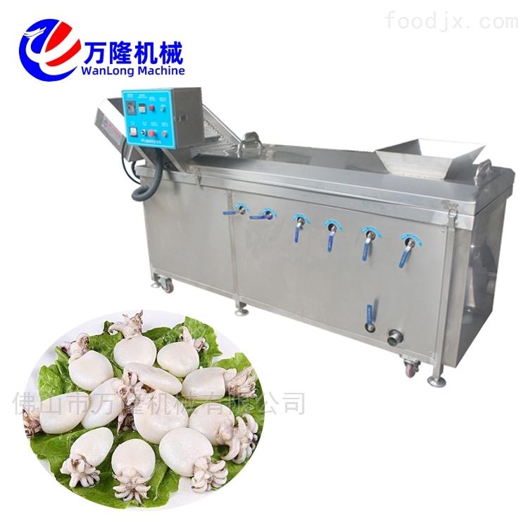 万隆品牌芒果口蘑芦笋连续式清洗漂烫机