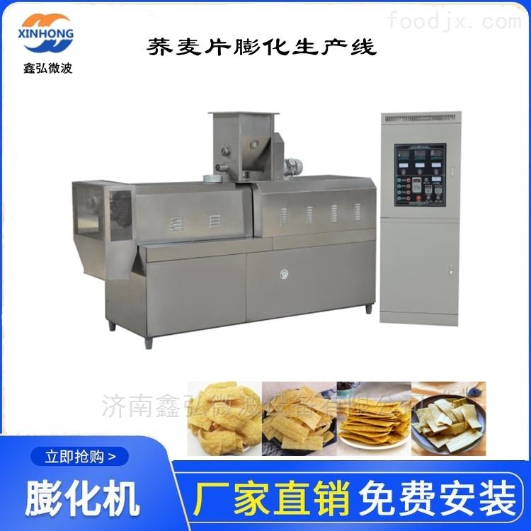 苦荞麦膨化食品生产线 鑫弘双螺杆膨化机