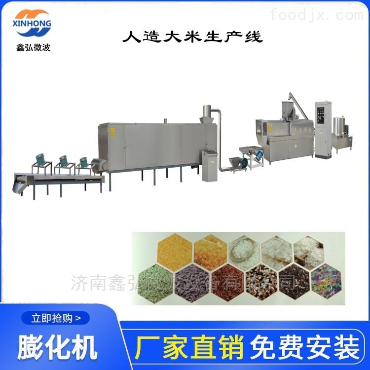 免蒸米设备 自热米生产线 双螺杆膨化机