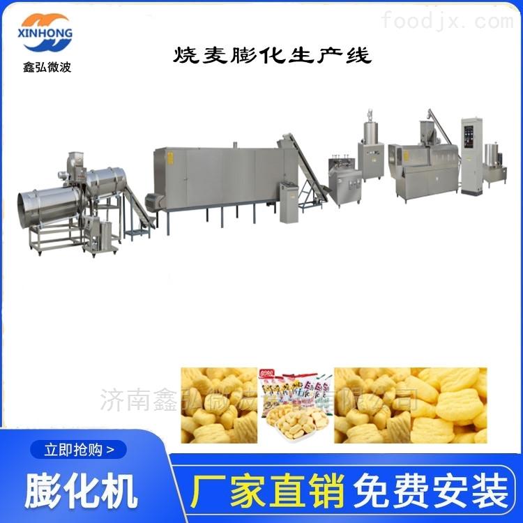 休闲膨化零食生产线 麦香鸡味块设备