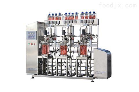 KRH-DEJ10L三联平行机械搅拌玻璃发酵罐