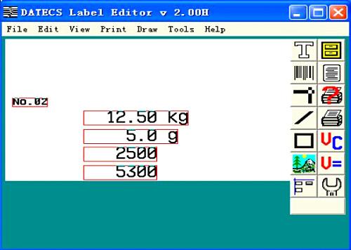 电子秤标签设计